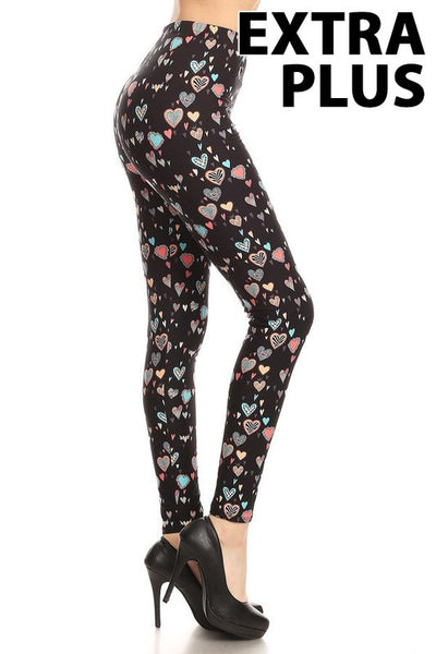 Hearts Extra Plus Legging 3x-4x