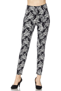 Midnight Flowers OS Legging