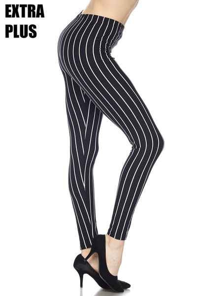 Black With White Stripe EPS Legging