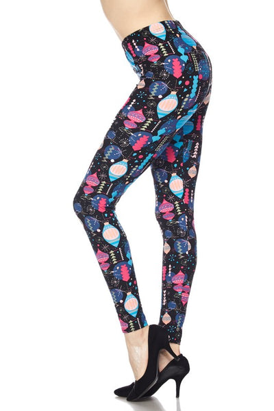 Blue and Pink Ornament PS Legging