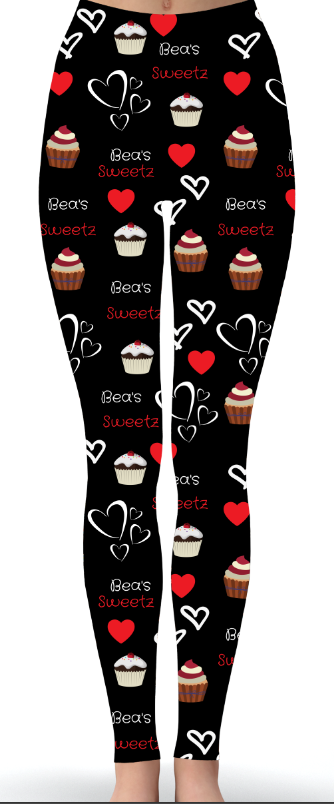 Custom Bea's Sweetz Black Special Print Leggings