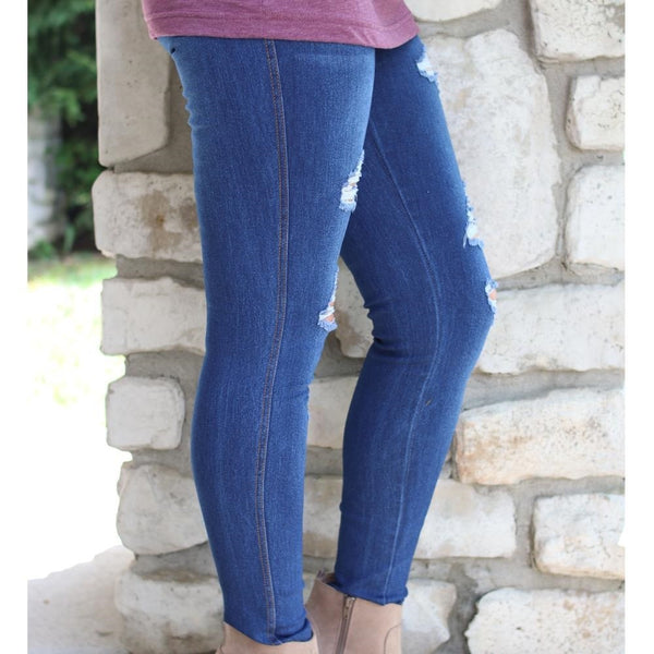 Blue Jeggings - Size Large