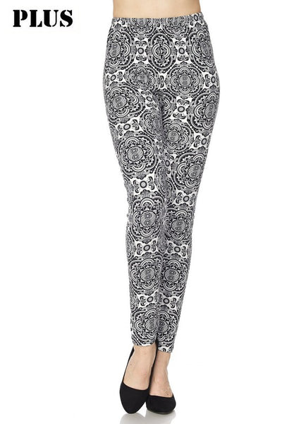 Black and White Mandala PS Legging