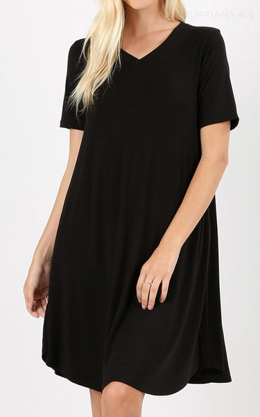 BULK V Neck Swing Dress  (6 qty)