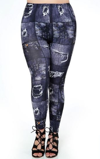 Blue Jean  OS Legging