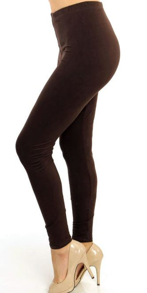 Brown Curvy Legging