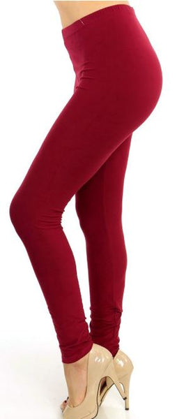 Burgundy Curvy Legging