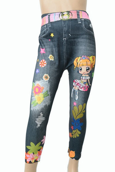 Kids Cartoon  Leggings - Patches