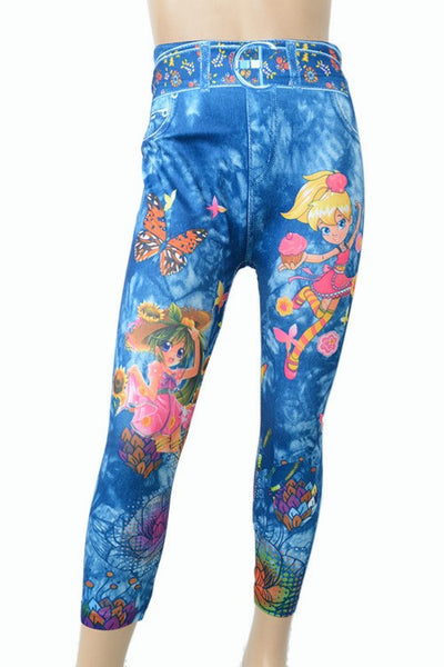 Kids Cartoon  Leggings - Cupcake Girl