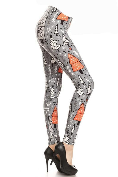 Gray Trees OS Leggings