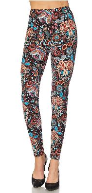 Fall Paisley Plus Legging