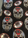 Custom Red and Gray Skull Football Leggings OS