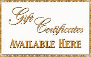 Gift Certificates - $1 increments