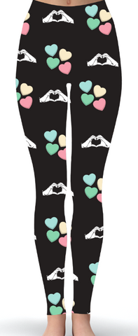 Custom Pastel ASL Print Leggings