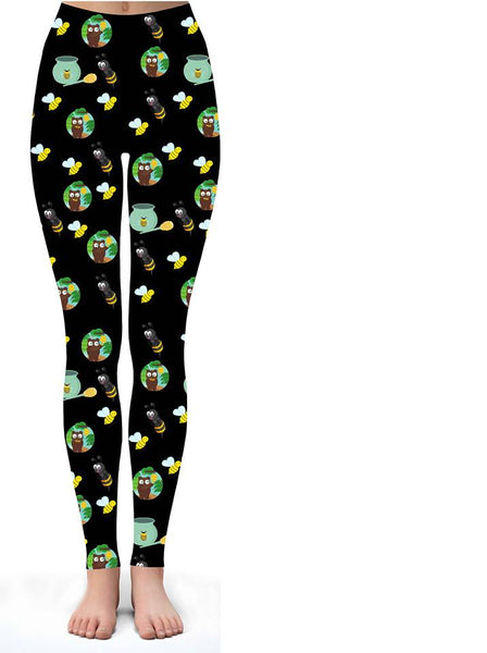 Honey Bee Print Leggings - IN STOCK NOW