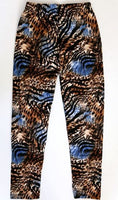 Kids Brown and Blue  Leggings