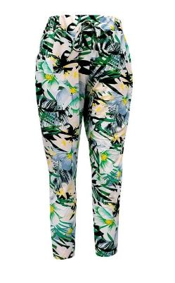 Kids Hawaiian Print Harem Leggings