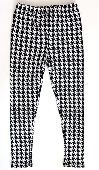 Kids B&W Houndstooth Leggings