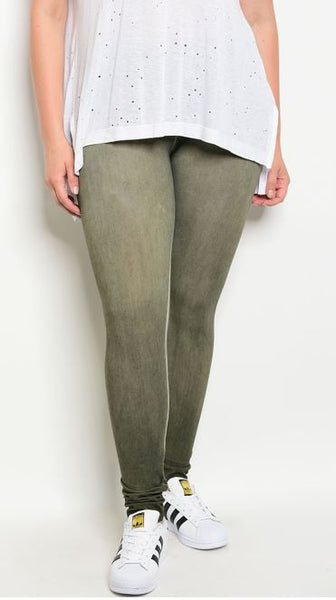 Light Olive Extra Curvy Legging