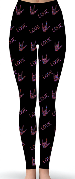 ASL Love Print Leggings