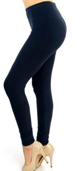 Navy Solid Plus Legging