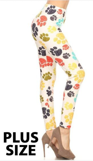Paw Prints Curvy Legging