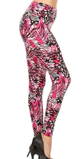 Pink Animal with Hearts Plus Legging