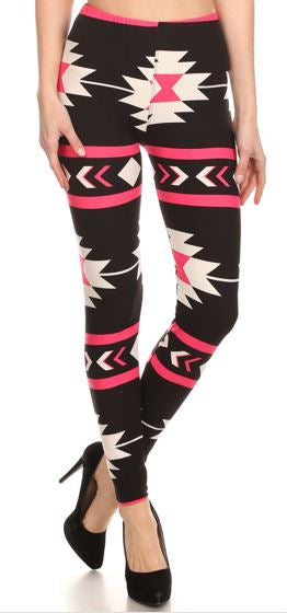 Pink Aztec Plus Legging