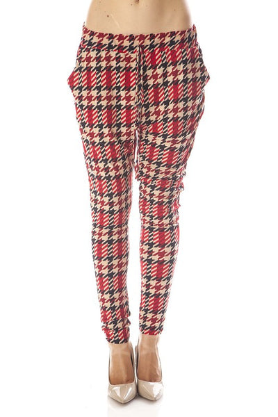Plaid Harem Leggings OS