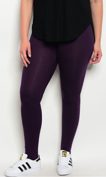 Deep Purple Extra Curvy Legging