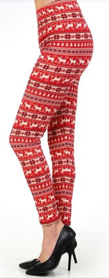 Deep Coral Deer Plus Legging