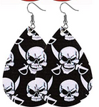 Halloween Earrings - Skull and Swords