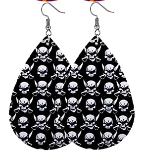 Halloween Earrings - Small Skull and Swords