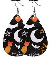 Halloween Earrings - Moon and Star