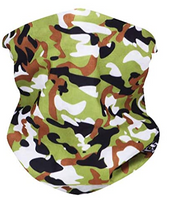 Green Camo Neck Gaiter - IN STOCK