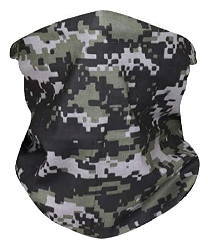 Gray Camo Neck Gaiter - IN STOCK