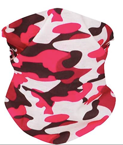 Pink Camo Neck Gaiter - IN STOCK