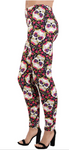 Flower Skull OS Legging