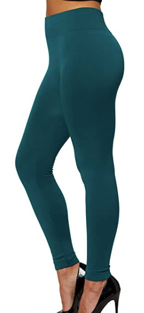 Hunter Green Fleece Plus Legging
