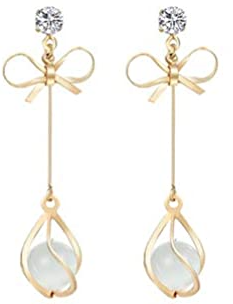 Gold Tone Bow Earring