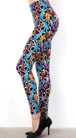 Feather Print OS Legging
