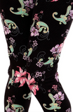 Floral and Paisley Print OS Legging