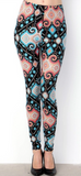 Black and Sky Blue Print PS Legging