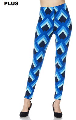 Blue Graphic PS Legging