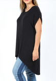 Black Back Split Dolman PS Top