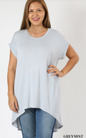 Grey Mist Back Split Dolman PS Top