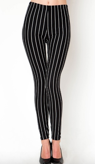 Black With White Stripe PS Legging