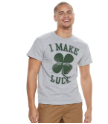 Make My Own Luck Grey T-Shirt