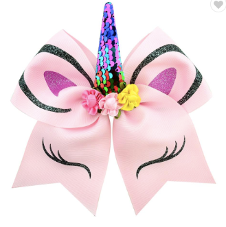 Unicorn Bow With Sequins 7""