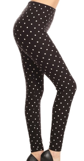 Navy With White Polka Dot PS Legging